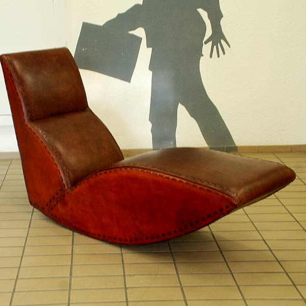 Lounge Chair Rock'n Roll Leder Dunkel